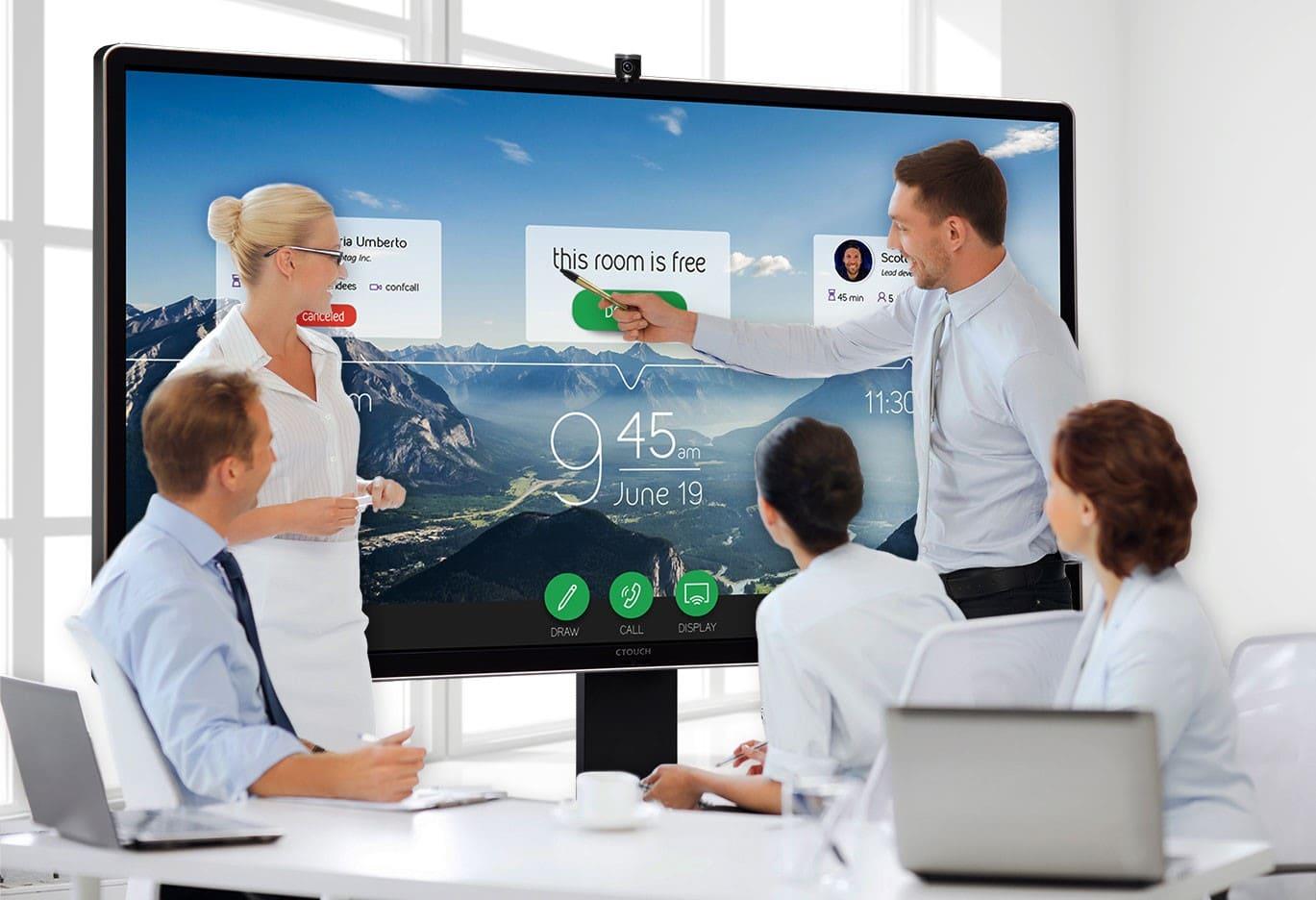 Choisir un écran interactif pour une salle de réunion high-tech